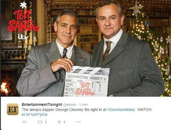 Sul set di 'Downtown Abbey' spunta George Clooney /Video