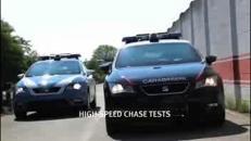 Test per le nuove auto di Polizia e Carabinieri