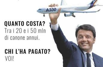 Critiche M5S e ironia, sul web spopola l''Air force Renzi'