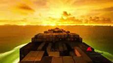 Il viaggio della nave cargo in time lapse