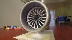 Il motore dell'aereo costruito con stampante 3D