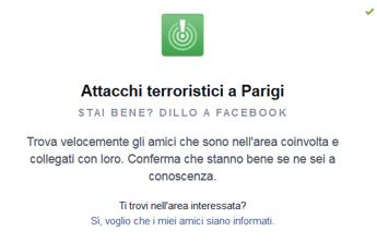 Parigi Attentato Facebook