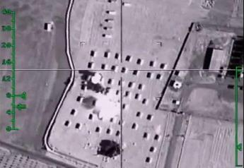 Guerra all'Is, in un video i bombardamenti russi a Raqqa /Guarda