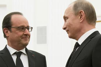 Putin e Hollande: