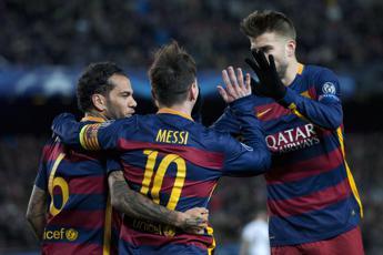 Batosta Roma in Champions, il Barca vince 6-1