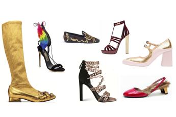 Oro, piume e pelliccia: le scarpe di Natale si conciano per le feste /Fotogallery