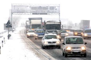 Pioggia gelata in autostrada