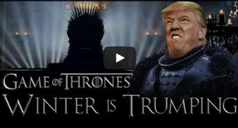 Donald Trump sul Trono di spade con il mash up 'Winter is Trumping' /Video