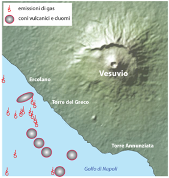 Scoperti nel Golfo di Napoli sei nuovi vulcani sottomarini davanti al Vesuvio