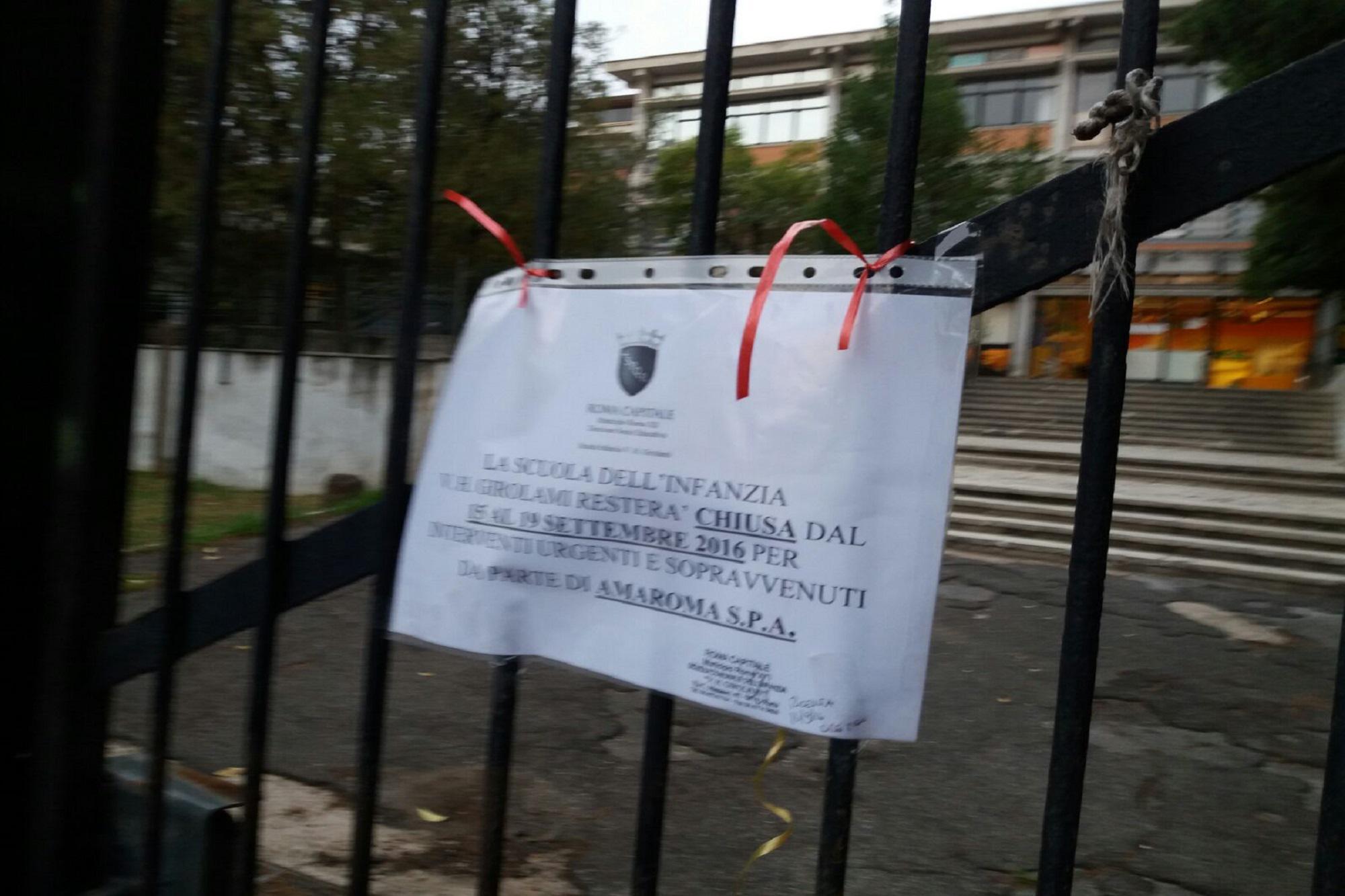 Topi in una scuola materna a Roma, istituto chiuso per 5 giorni