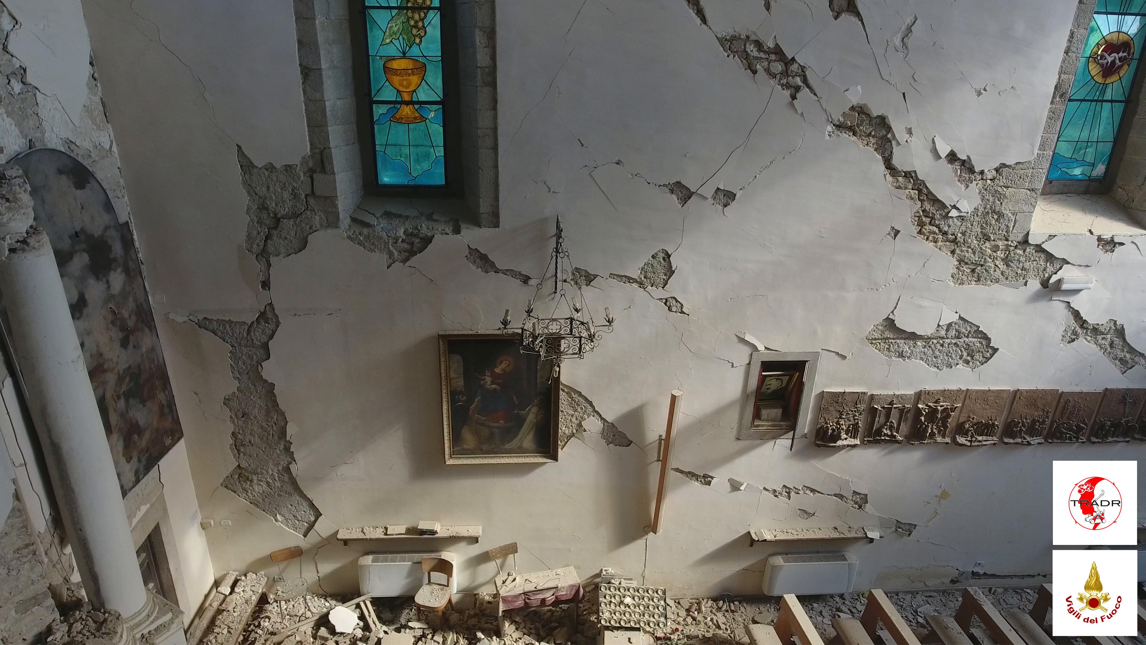 Robot e droni 'salvano' le chiese di Amatrice