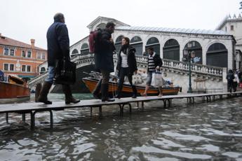 Allarme alta marea a Venezia