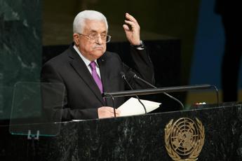 Abbas: Grazie Italia, ora riconoscete lo Stato palestinese