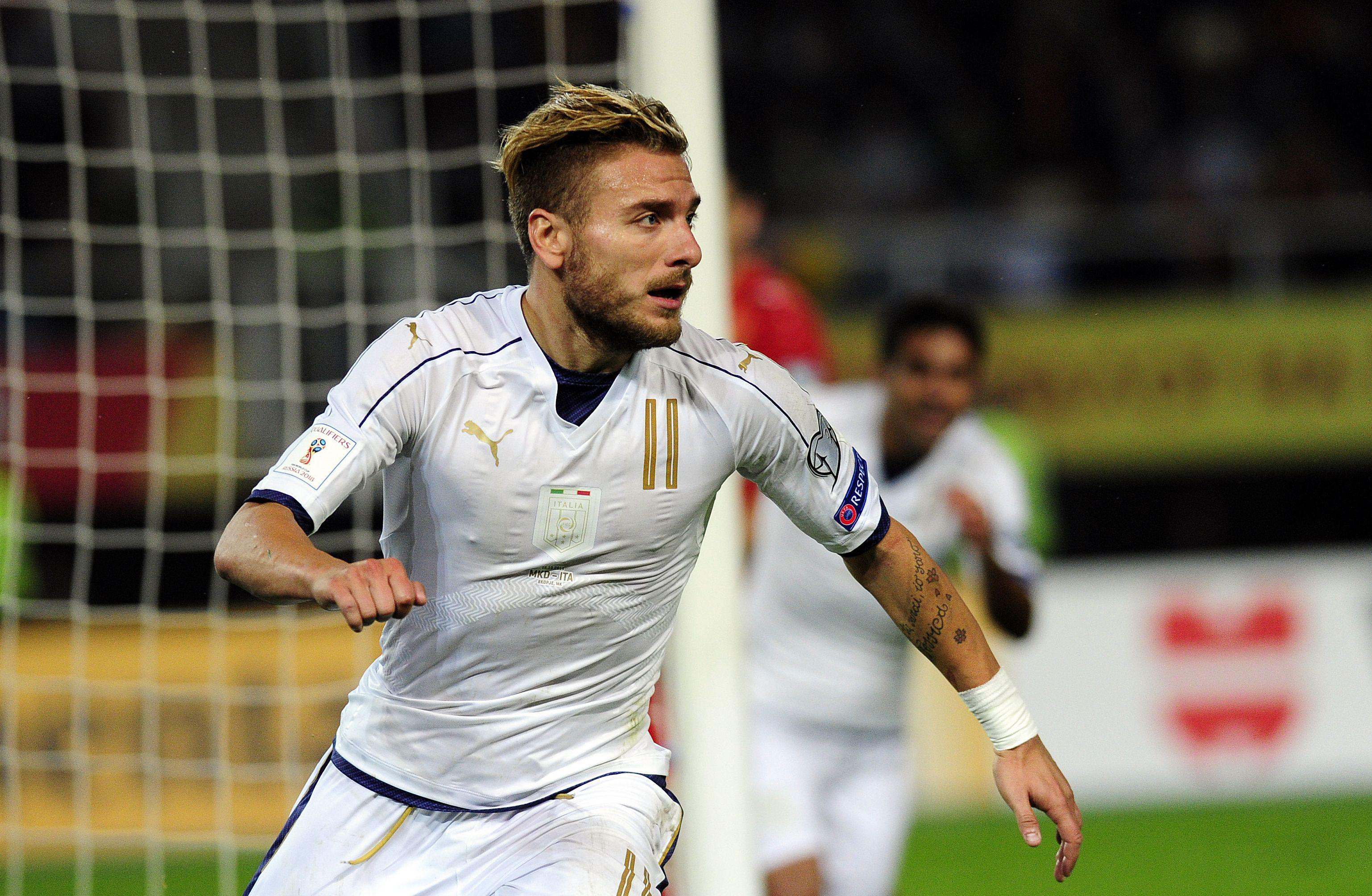Immobile salva l'Italia: 3-2 al 91' in Macedonia