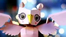 Oomiyu, il gufo robot fatto di carta