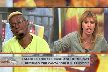 Mussolini granddaughter in spat with black rapper