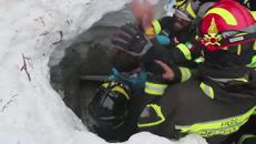 Tragedy and miracle in Italy, mother and son survive two days trapped under snow