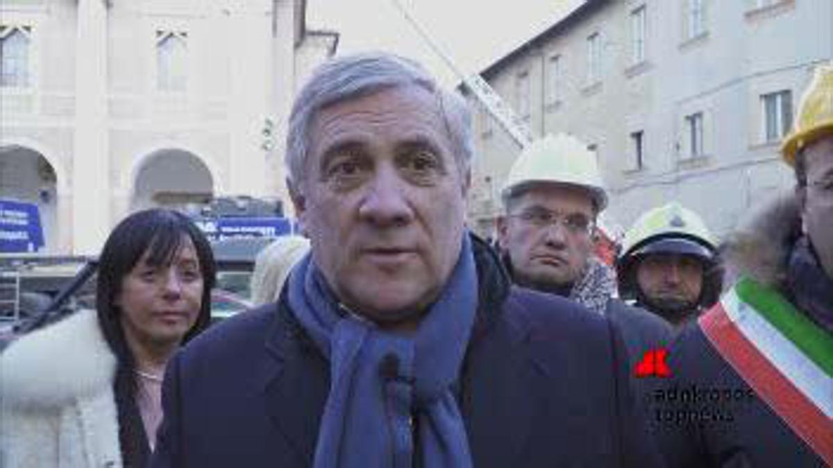 Terremoto: Tajani, i fondi Ue potranno arrivare a 2 mld di euro