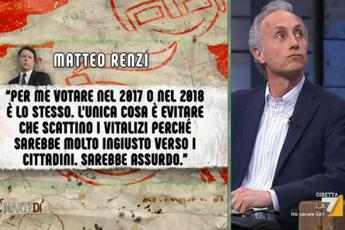 Renzi punta al voto. Sms inviati a Floris /Video