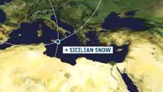 La Sicilia innevata con gli occhi dei satelliti