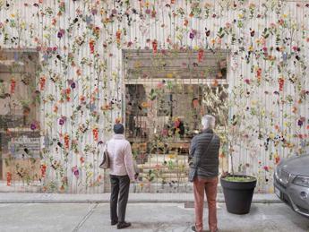 Arte verde per la Brera Design Week, l'orto-giardino decora la facciata