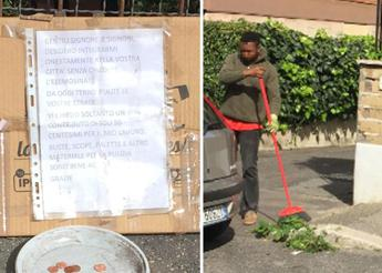 Migrant offers to sweep Rome's streets