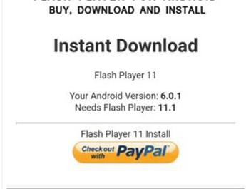 Update di Flash Player a 18 euro, scoperta truffa su Google Play