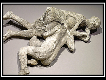 Pompei, calco di abbraccio omosex: lo rivela il Dna