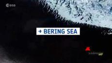 Ghiacci e vortici, il lago di Bering visto dallo Spazio