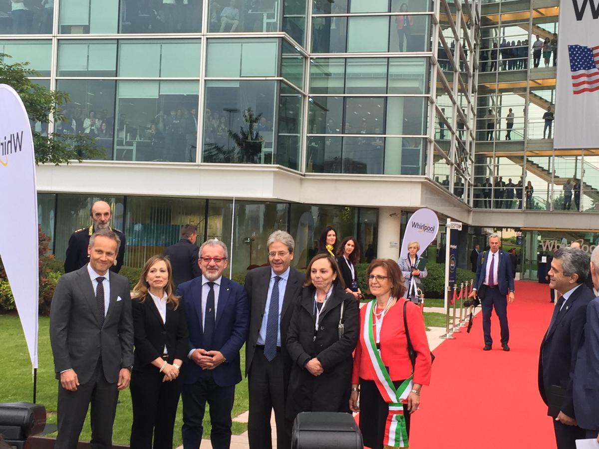 Whirlpool, Gentiloni a Milano inaugura nuovo headquarter green