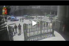 Milano, il video dell'aggressione al poliziotto