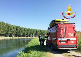 Incidente a Truccazzano: auto nel canale