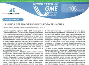 Energia, on line nuovo numero newsletter Gme