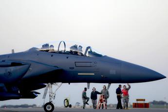 Caccia Usa in volo su Corea