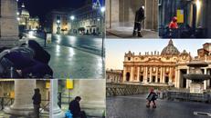 Clochard a San Pietro: