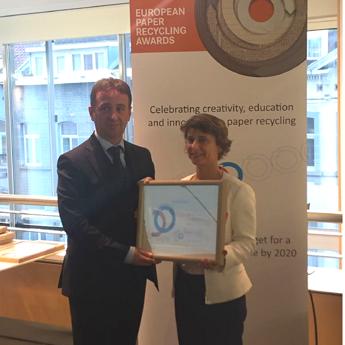 European Paper Recycling Awards, premiata Lucart per il progetto Natural