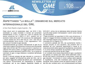 Energia, online nuovo numero newsletter Gme