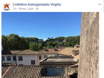 Roma, crolla tetto del liceo Virgilio