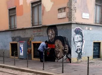 Milano, sfregiato murale Falcone e Borsellino