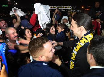 Ibra sbarca a Los Angeles