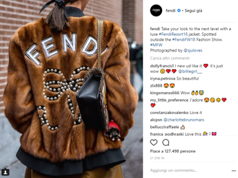 Gucci 're' di Instagram durante #MFW
