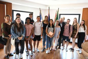 Studenti Usa in visita all'Adnkronos