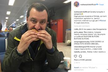 Mangiamo italiano!, poi Salvini fa sosta al fast food