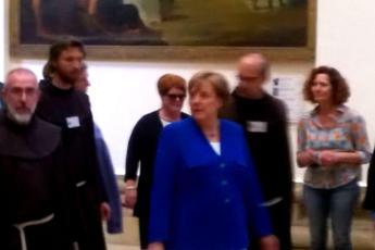 Assisi, Angela Merkel dai francescani