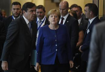 Conte and Merkel holds talks at EU summit