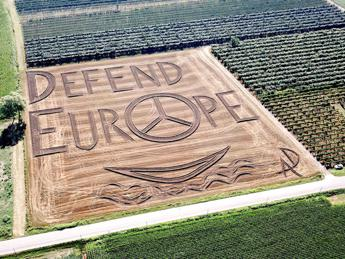 'Defend Europe', land art e migranti nel veronese