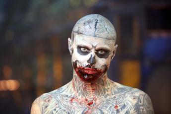 Suicida lo 'Zombie Boy' Rick Genest
