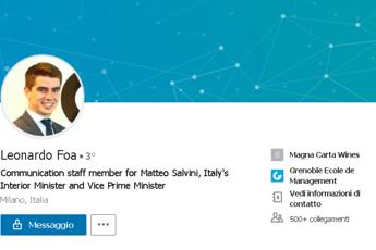 Il figlio di Marcello Foa nello staff di Salvini