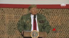 Trump a sorpresa in Iraq, soldati restano