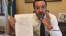 Diciotti, Salvini: ''Ho difeso la Patria''